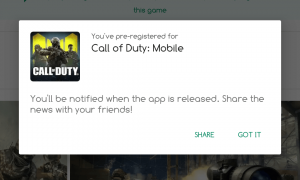 Call of Duty Mobile on Global Google Play Store