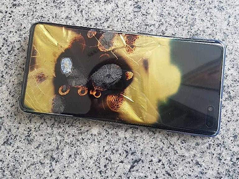 Galaxy S10 5G exploded