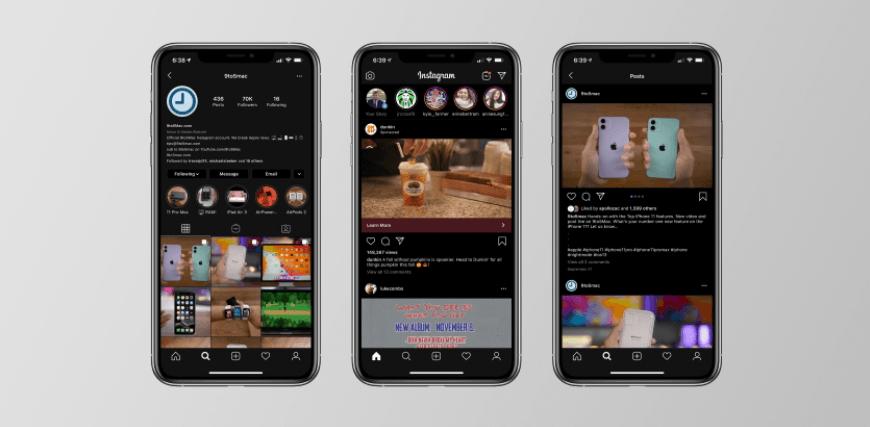 Get dark themes iOS devices