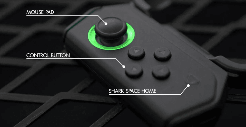 Shark Space and Gamepad in Black Shark 2 Pro