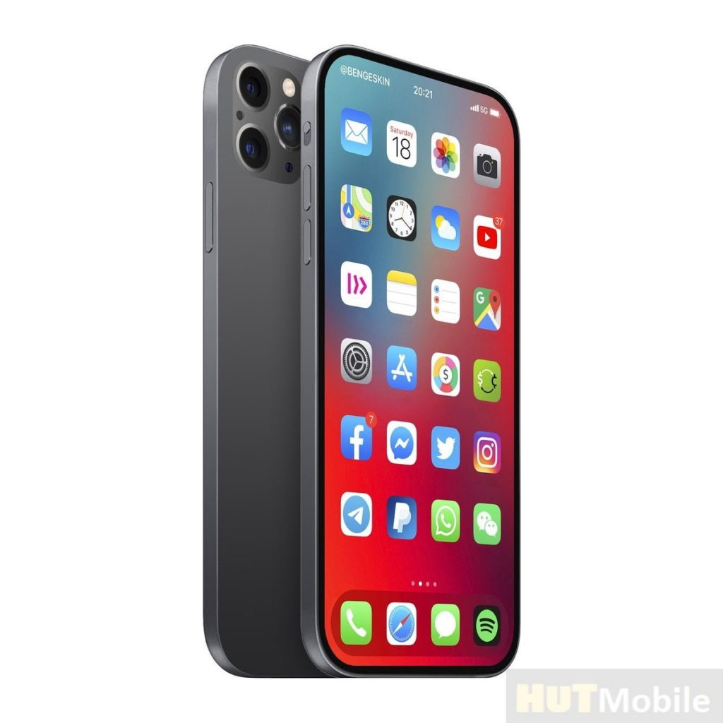 iPhone 13 without cutouts and connectors and with a MicroLED screen with a frequency of 120 Hz 2020
