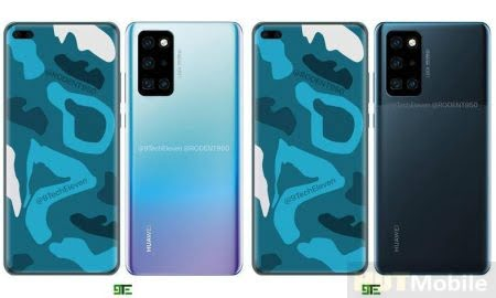 New Renders Of The Flagship Huawei P40 Pro A Rectangular Camera And A Dual Front Camera