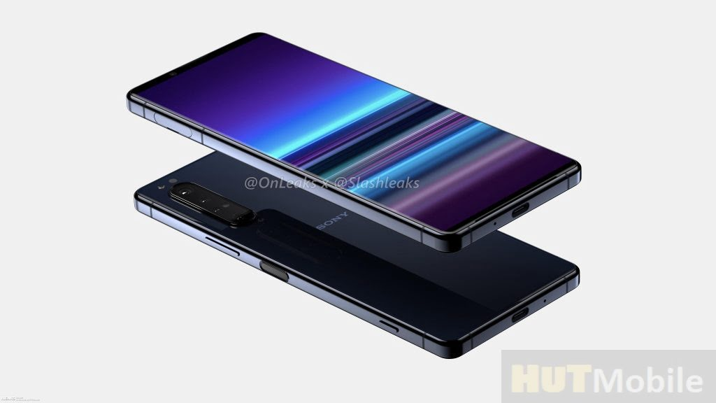 The First Renderings Of The Sony Xperia 5 Plus Even Thinner Than The Frame But Still Without Cutouts