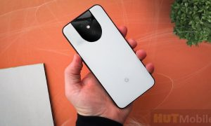 Pixel 5 XL facial recognition feature displayed
