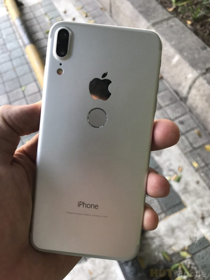 New iPhone 8 layout with Touch ID sensor on the back