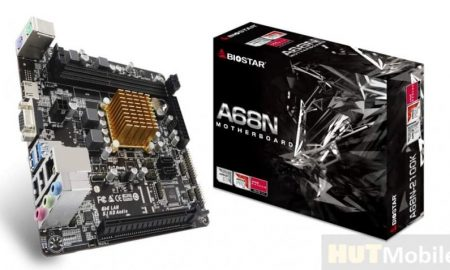 Biostar motherboard with SoC AMD E1-6010 Detail
