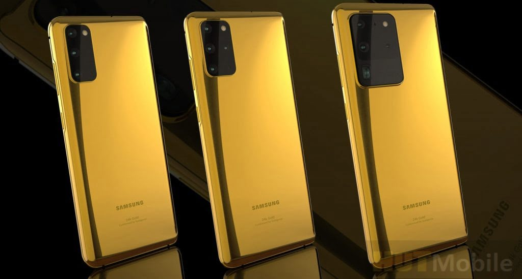 Luxury Gold Gifts 24K Gold Samsung Galaxy S20 Range