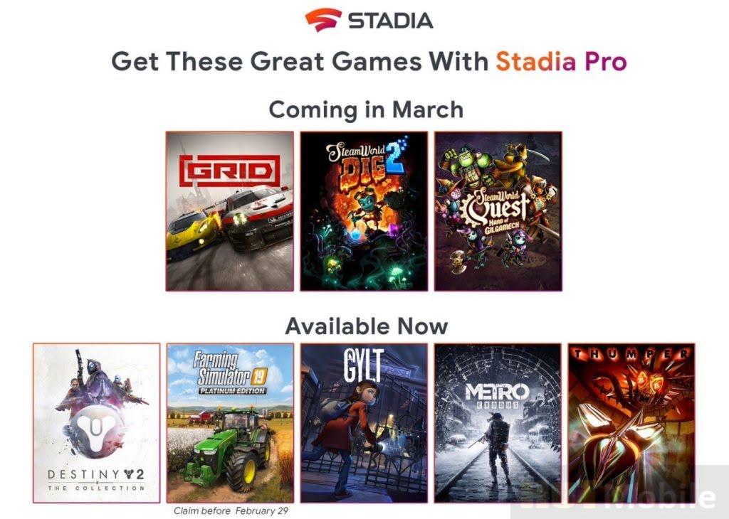 Google Stadia Mart games announced