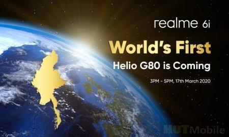 OPPO Realme 6i MediaTek Helio G80 chip Features Detail