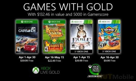Xbox Live Gold subscribers will be presented with Project CARS 2 and the re-release of Fable