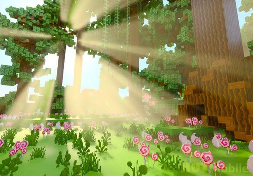 Minecraft showed with the most modern graphics