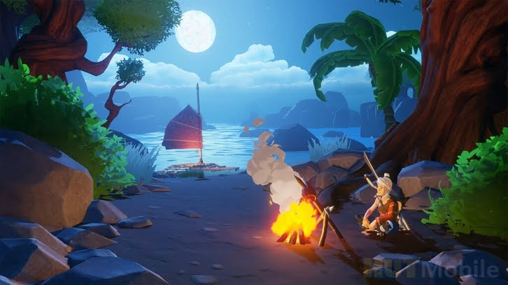 Announcement of Windbound Leak Features a colorful survivor about exploring the islands