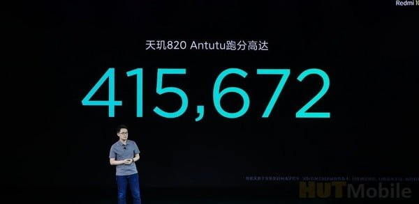 Redmi new product launch conference held Redmi 10X debut Tianji 820 running points 410,000