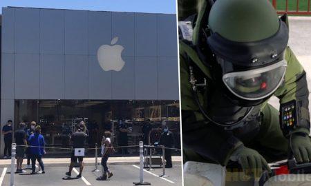 The suspicious package left at the Apple store surprised!