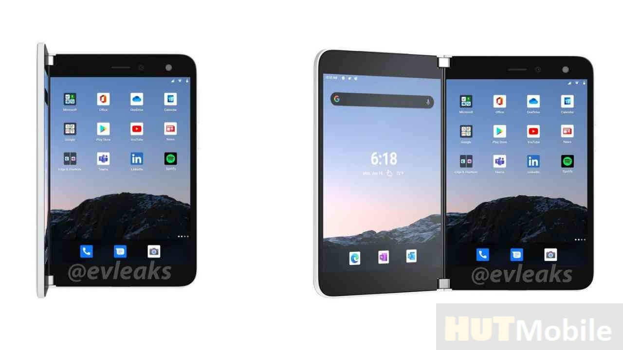 New foldable Microsoft Surface Duo phone model leaked: Foldable phone Microsoft Surface Duo leaked